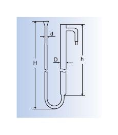 Прибор для определения активности угля при адсорбции уксусной кислоты Стеклоприбор